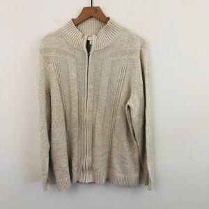 NWT! CJ Banks Knit Full Zip Sweater 1X